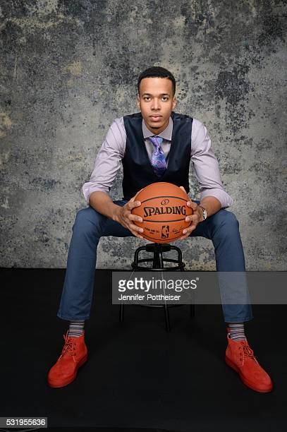 Draft Prospect Skal Labissiere poses for some portraits prior to the 2016 NBA Draft Lottery on May 17 2016 at the NBA Headquarters in New York City...