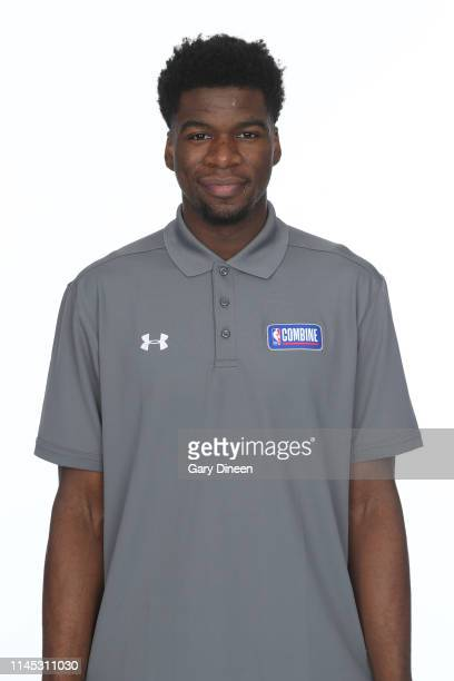 Draft Prospect Terence Davis poses for a head shot at the Body Image station for the Medical Evaluation portion of the 2019 NBA Combine powered by...