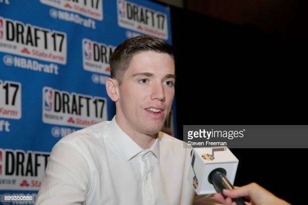 Draft Prospect TJ Leaf speaks to the media during media availability as part of the 2017 NBA Draft on June 21 2017 at the Grand Hyatt New York in New...