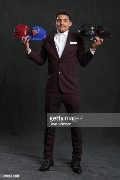 Draft Prospect Trae Young poses for a portrait before the NBA Draft Lottery on May 15 2018 at The Palmer House Hilton in Chicago Illinois NOTE TO...