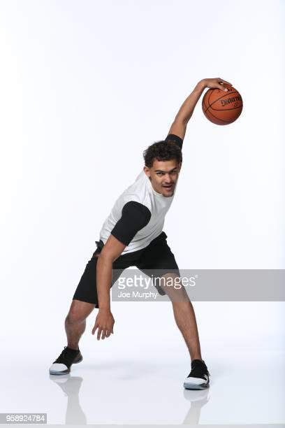 Draft Prospect Trae Young poses for a portrait during the 2018 NBA Combine circuit on May 15 2018 at the Intercontinental Hotel Magnificent Mile in...
