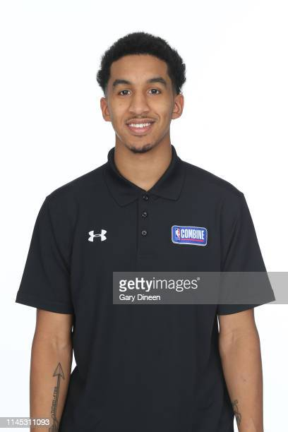 Draft Prospect Tremont Waters poses for a head shot at the Body Image station for the Medical Evaluation portion of the 2019 NBA Combine powered by...