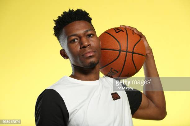 Draft Prospect Tyus Battle poses for a portrait during the 2018 NBA Combine circuit on May 15 2018 at the Intercontinental Hotel Magnificent Mile in...