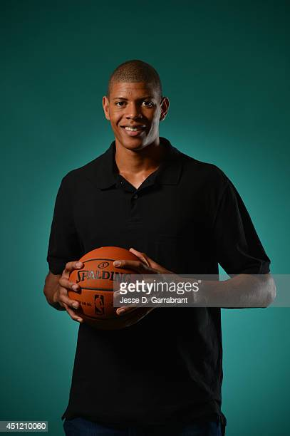 Draft Prospect Walter Tavares poses for portraits during media availability as part of the 2014 NBA Draft on June 25 2014 at the Westin Times Square...