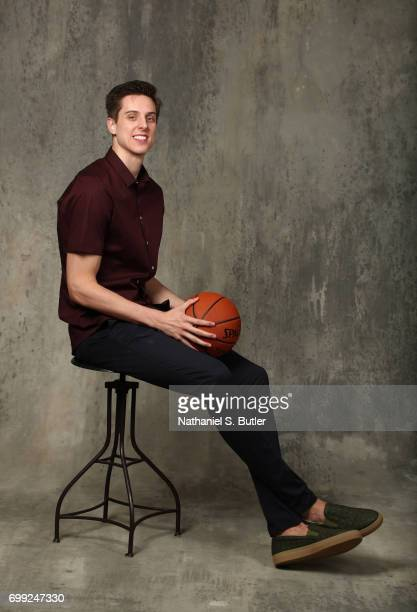 Draft Prospect Zach Collins poses for portraits during media availability and circuit as part of the 2017 NBA Draft on June 21 2017 at the Grand...