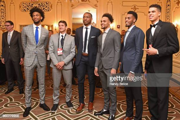 Draft Prospects Marvin Bagley III Grayson Allen Wendell Carter Gary Trent Jr Tony Brown Jr and Michael Porter Jr are photographed during the 2018 NBA...