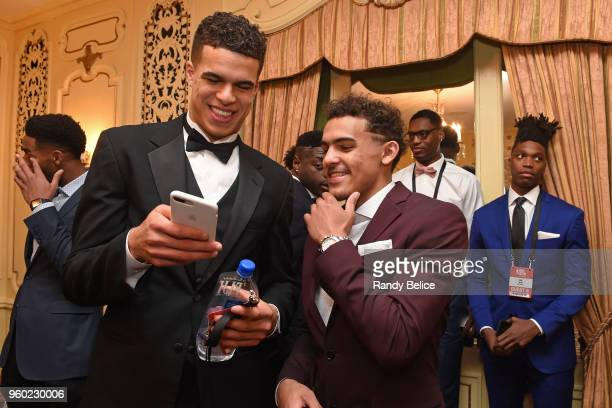 Draft Prospects Michael Porter Jr and Trae Young are photographed during the 2018 NBA Draft Lottery at the Palmer House Hotel on May 15 2018 in...