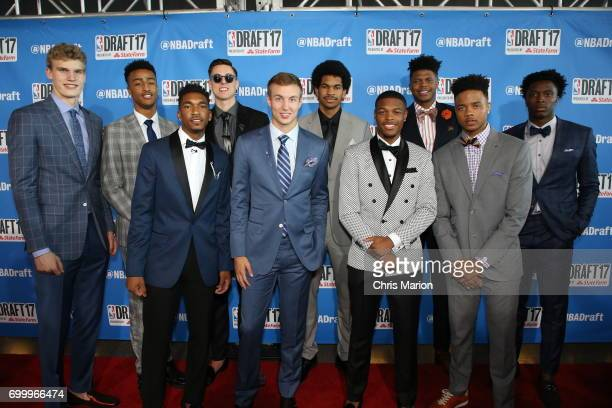 Draft prospects on the red carpet prior to the 2017 NBA Draft on June 22 2017 at Barclays Center in Brooklyn New York NOTE TO USER User expressly...