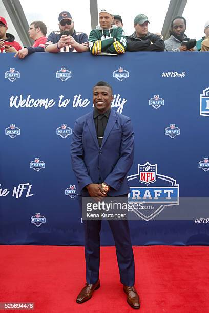 Draftee Keanu Neal of Florida arrives to the 2016 NFL Draft on April 28 2016 in Chicago Illinois