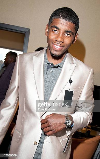 Draftee Kyrie Irving attends the 2nd annual Sean John NBA Pre-Draft Fine Tailoring and Gifting Experience at The Westin Hotel on June 21, 2011 in New...