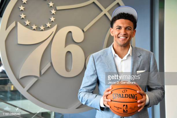 Draftee Matisse Thybulle poses for portrait during a press conference on June 21 2019 at the Philadelphia 76ers Training Complex in Camdem New Jersey...
