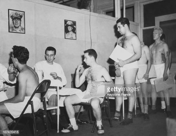 Draftees Getting Medical Exam In Usa On 1950