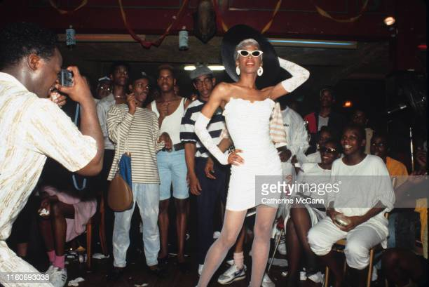 Drag ball in 1988 in New York City New York Pictured Octavia St Laurent 1964 2009