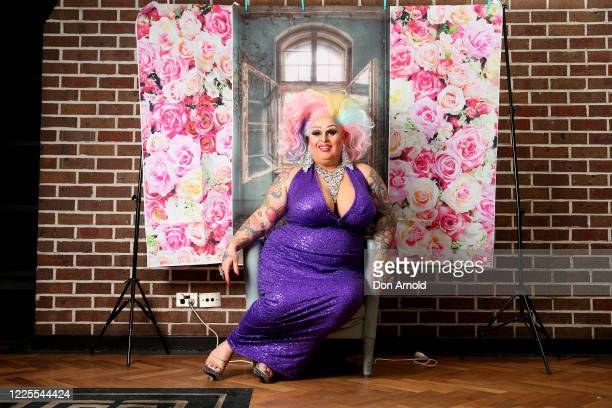 Drag performer Maxi Shield poses inside the Oxford Hotel on May 18 2020 in Sydney Australia Drag performer Maxi Shield started hosting a live...