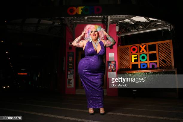 Drag performer Maxi Shield poses outside the Oxford Hotel on May 18 2020 in Sydney Australia Drag performer Maxi Shield started hosting a live...
