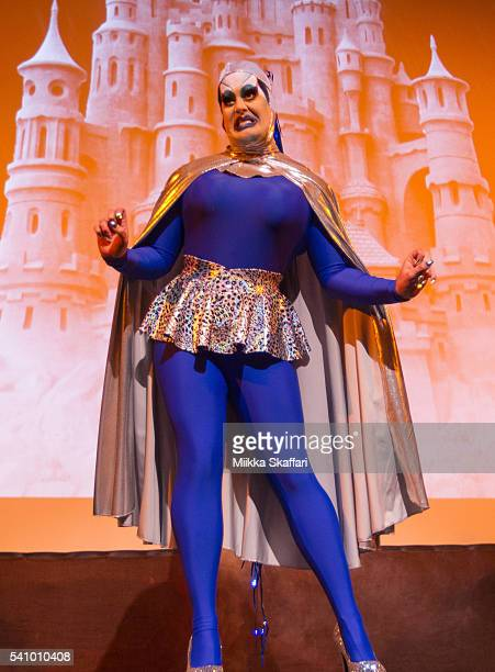 Drag performer Peaches Christ performs before the 25th Anniversary Screening of 'Vegas in Space' at Frameline40 film festival on June 17 2016 in San...