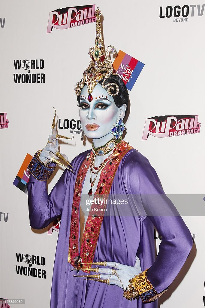 Drag performer Raja attends 'RuPaul's Drag Race' Season 5 Finale, Reunion & Coronation Taping on May 1, 2013 in North Hollywood, California.