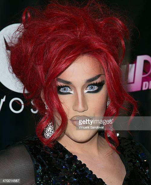 Drag queen Adore Delano attends Logo's 'RuPaul's Drag Race' season 6 premiere party at Hollywood Roosevelt Hotel on February 17 2014 in Hollywood...