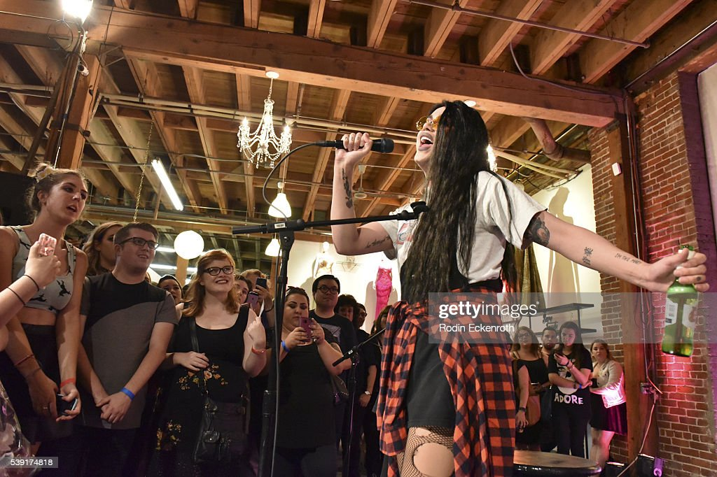 Drag queen Adore Delano performs during the opening of