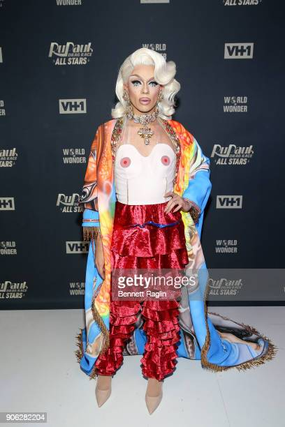 Drag queen Aja attends 'RuPaul's Drag Race All Stars' Meet The Queens on January 17 2018 in New York City