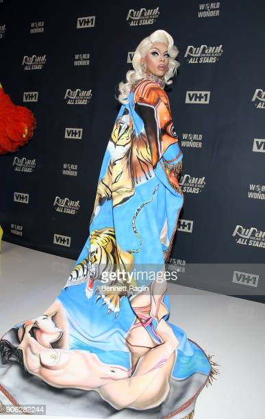 Drag queen Aja attends RuPaul's Drag Race All Stars Meet The Queens on January 17 2018 in New York City