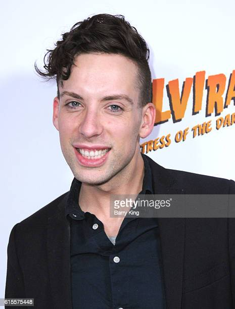 Drag Queen Alaska aka Justin Andrew attends the book launch party for new book 'Elvira Mistress Of The Dark' at Hollywood Roosevelt Hotel on October...