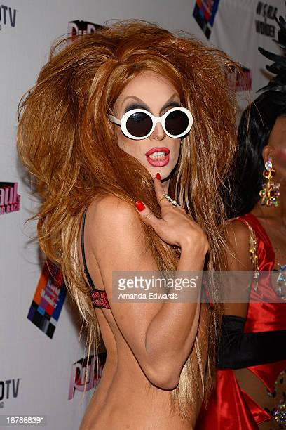 Drag queen Alaska arrives at Rupaul's Drag Race Season 5 Finale Reunion Coronation Taping on May 1 2013 in North Hollywood California