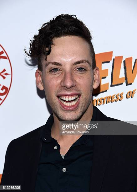 Drag queen Alaska attends the launch party for Cassandra Peterson's new book 'Elvira Mistress Of The Dark' at the Hollywood Roosevelt Hotel on...