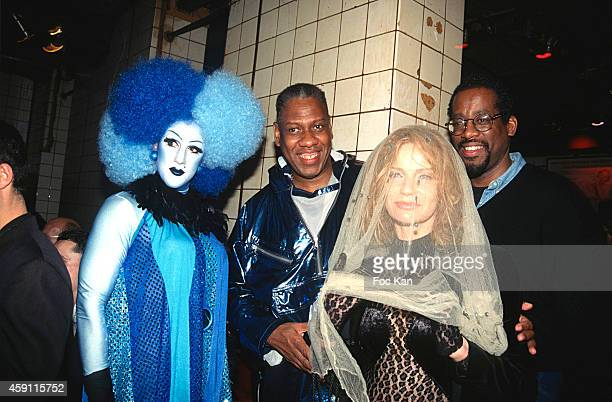 A drag Queen Andre Leon Talley and guests attend a fashion week Party at Les Bains Douches in the 1990s in Paris France