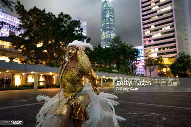 Drag Queen attends a gathering for International Day Against Homophobia on May 17, 2019 in Hong Kong, China. Taiwan's parliament became the first in...