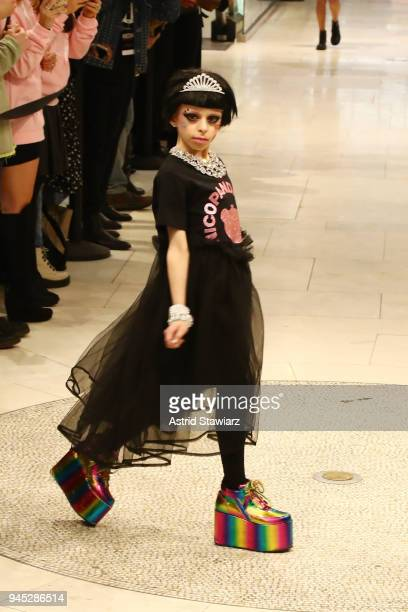 Drag queen Desmond is Amazing walks the runway during the MAC Nicopanda Macy's Herald Square Launch Premiere at Macy's Herald Square on April 11 2018...