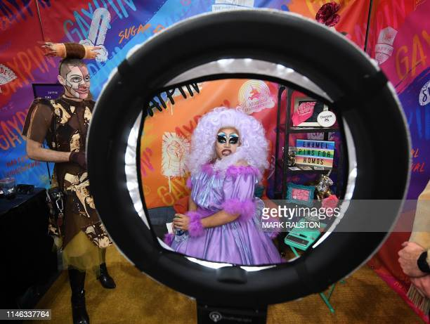 TOPSHOT Drag Queen Gaypin and her friends attend the three day RuPaul's DragCon which is billed as the first convention celebrating drag queer...
