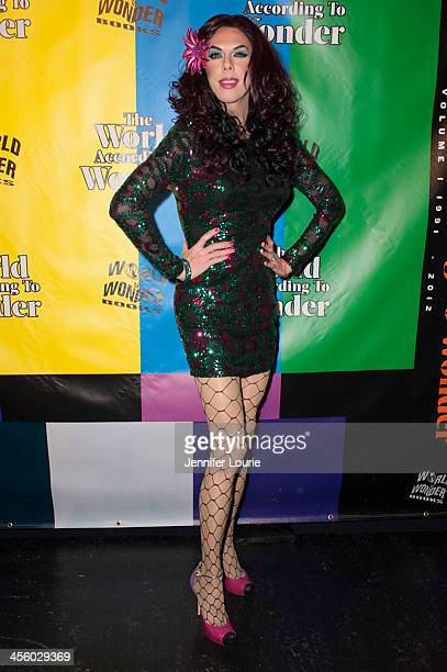 Drag queen Kelly Mantle attends the 2013 World of Wonder Holiday Party and 1st Annual WOWie Awards at The Globe Theatre on December 12 2013 in...