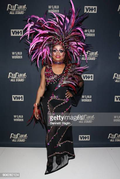 Drag queen Kennedy Davenport attends RuPaul's Drag Race All Stars Meet The Queens on January 17 2018 in New York City