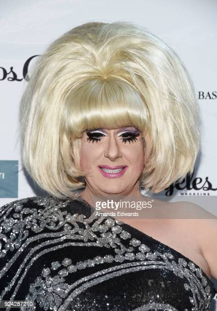 Drag queen Lady Bunny arrives at the Mitchell Gold Bob Williams Birthday Bash to benefit The Tyler Clementi Foundation at the Mitchell Gold Bob...