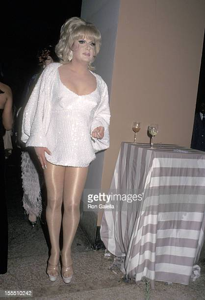 Drag queen Lady Bunny attends The Metropolitan Museum's Costume Institute Gala Monographic Exhibition Christian Dior on December 9 1996 at The...