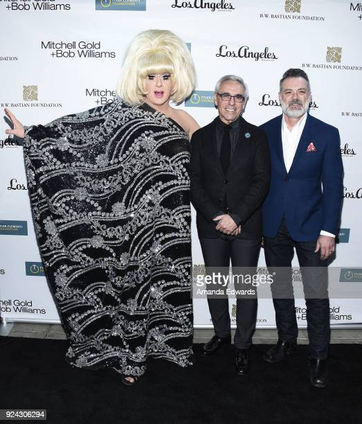 Drag queen Lady Bunny Mitchell Gold and Bob Williams arrive at the Mitchell Gold Bob Williams Birthday Bash to benefit The Tyler Clementi Foundation...