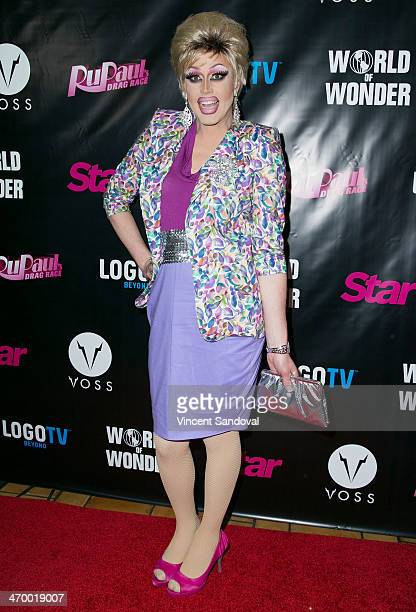Drag queen Magnolia Crawford attends Logo's 'RuPaul's Drag Race' season 6 premiere party at Hollywood Roosevelt Hotel on February 17 2014 in...