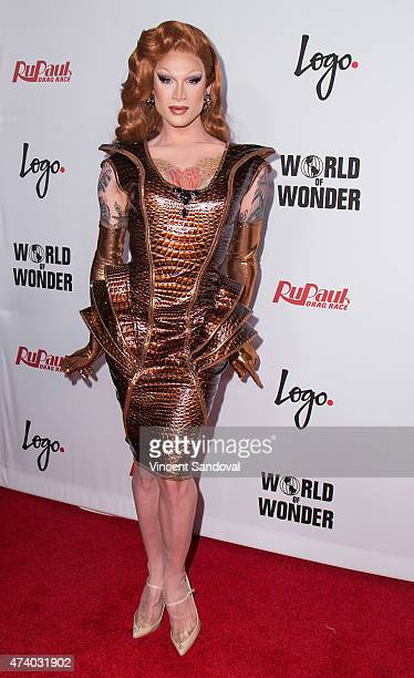 Drag queen Miss Fame attends Logo TV's 'RuPaul's Drag Race' season finale event at Orpheum Theatre on May 19 2015 in Los Angeles California