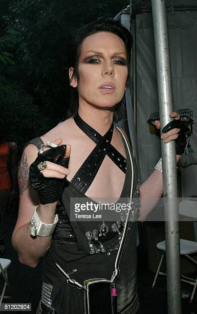 Drag Queen Miss Guy attends Wigstock 2004 August 21, 2004 at Tompkins Square Park, in New York City.