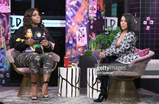 """Drag queen Monet X Change and singer K. Michelle attend """"The X Change Rate"""" at Build Studio on January 29, 2020 in New York City."""