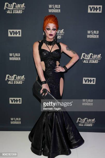Drag queen Morgan McMichaels attends RuPaul's Drag Race All Stars Meet The Queens on January 17 2018 in New York City