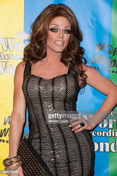 Drag queen Morgan McMichaels attends the 2013 World of Wonder Holiday Party and 1st Annyal WOWie Awards at The Globe Theatre on December 12 2013 in...