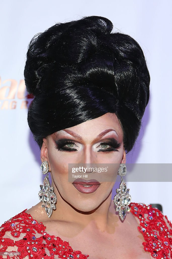 Drag queen Mrs. Kasha Davis attends the 'RuPaul's Drag Race' Season 7 New York Premiere at Diamond Horseshoe at the Paramount Hotel on February 23, 2015 in New York City.