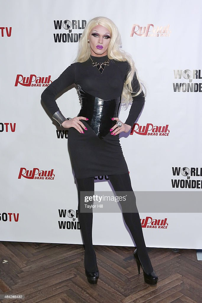 Drag queen Pearl attends the 'RuPaul's Drag Race' Season 7 New York Premiere at Diamond Horseshoe at the Paramount Hotel on February 23, 2015 in New York City.