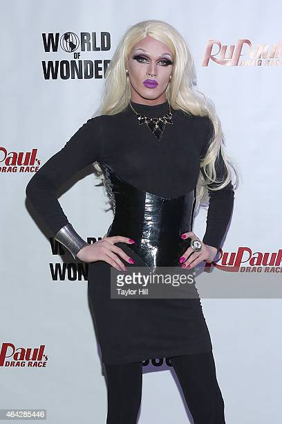 Drag queen Pearl attends the 'RuPaul's Drag Race' Season 7 New York Premiere at Diamond Horseshoe at the Paramount Hotel on February 23 2015 in New...