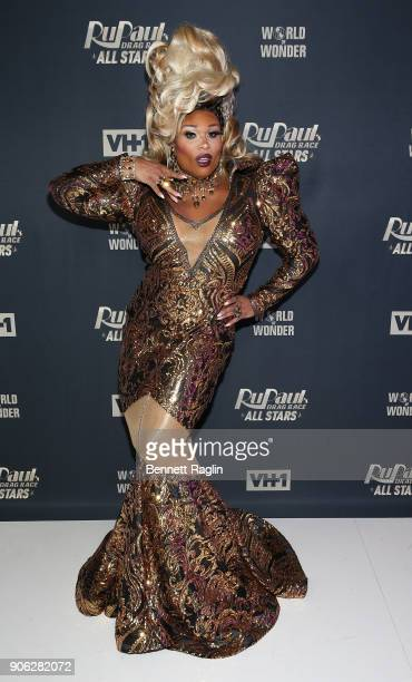 Drag queen Peppermint attends the RuPaul's Drag Race All Stars meet The Queens on January 17 2018 in New York City
