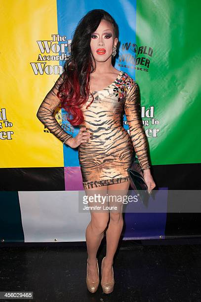 Drag queen Phi Phi O'hara attends the 2013 World of Wonder Holiday Party and 1st Annual WOWie Awards at The Globe Theatre on December 12 2013 in...