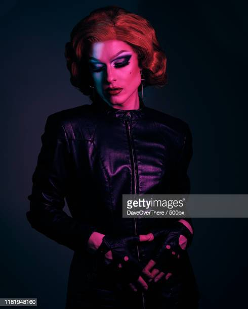 drag queen portrait - images stock pictures, royalty-free photos & images