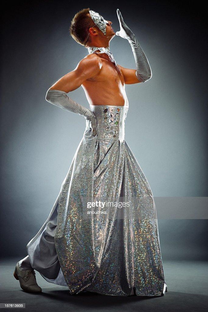 Drag Queen Posing : Stock Photo